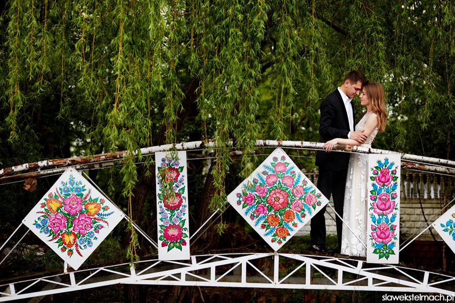 kolorowy most ślub