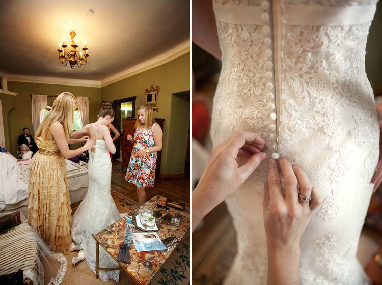 piękna suknia na zamku