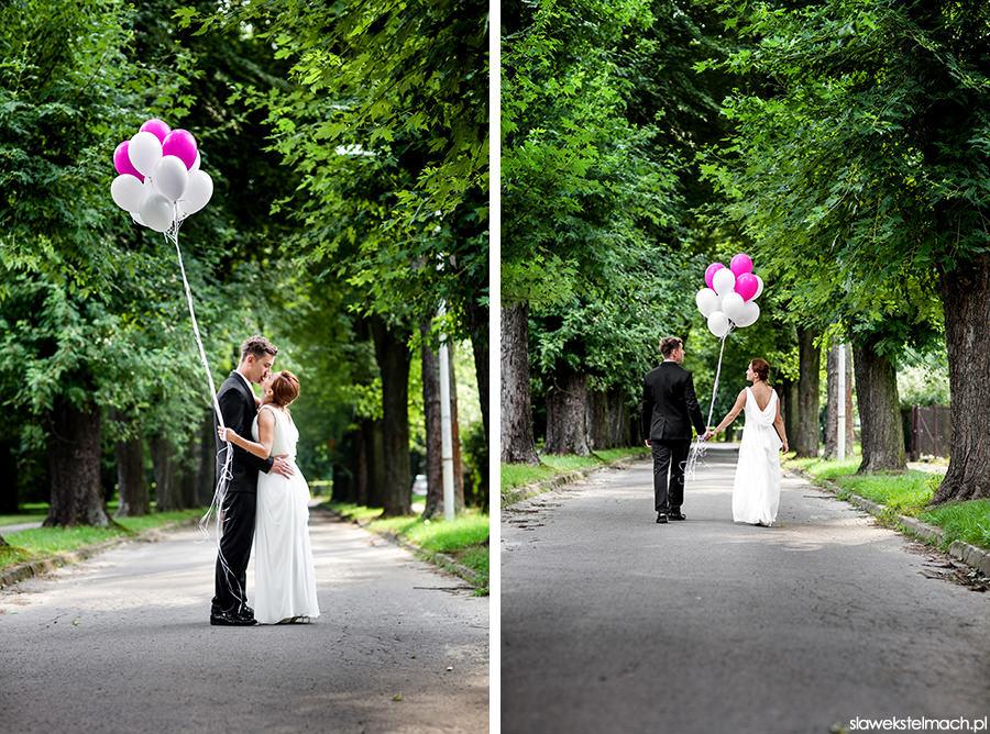 balony do ślubu