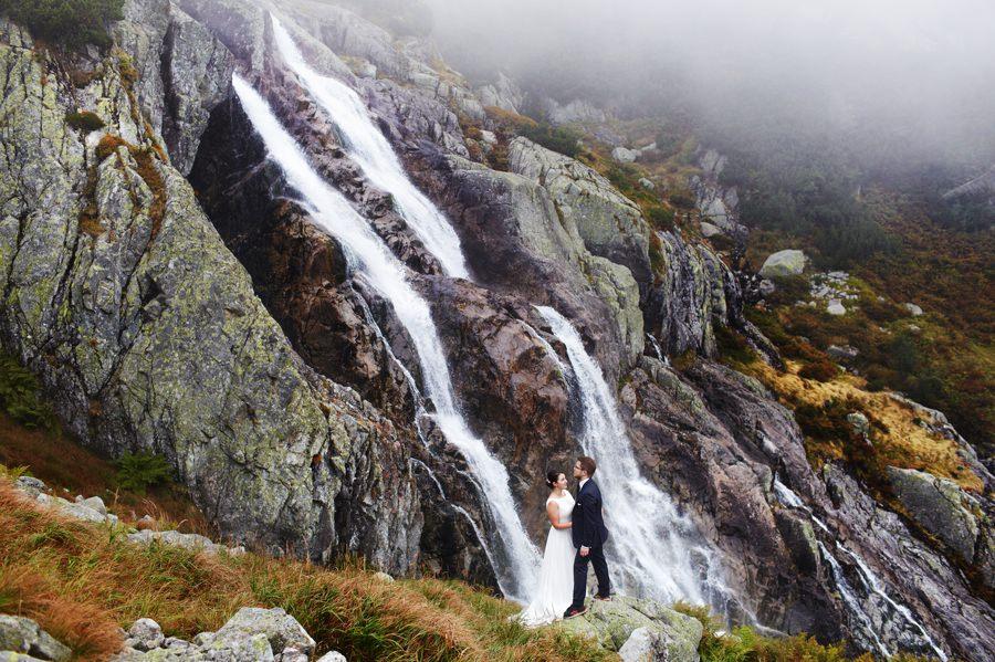 wodospad Siklawa Tatry - fotografia ślubna