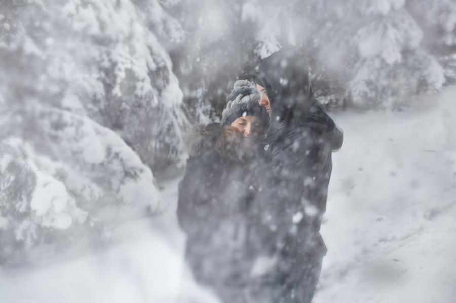śnieg na sesji w Tatrach