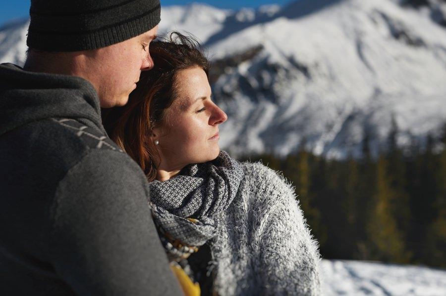 portret śluny w górach