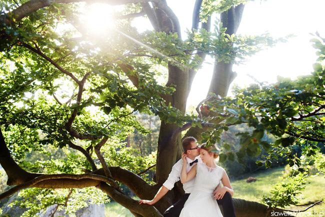 nietypowe zdjęcia ślubne ciężkowice