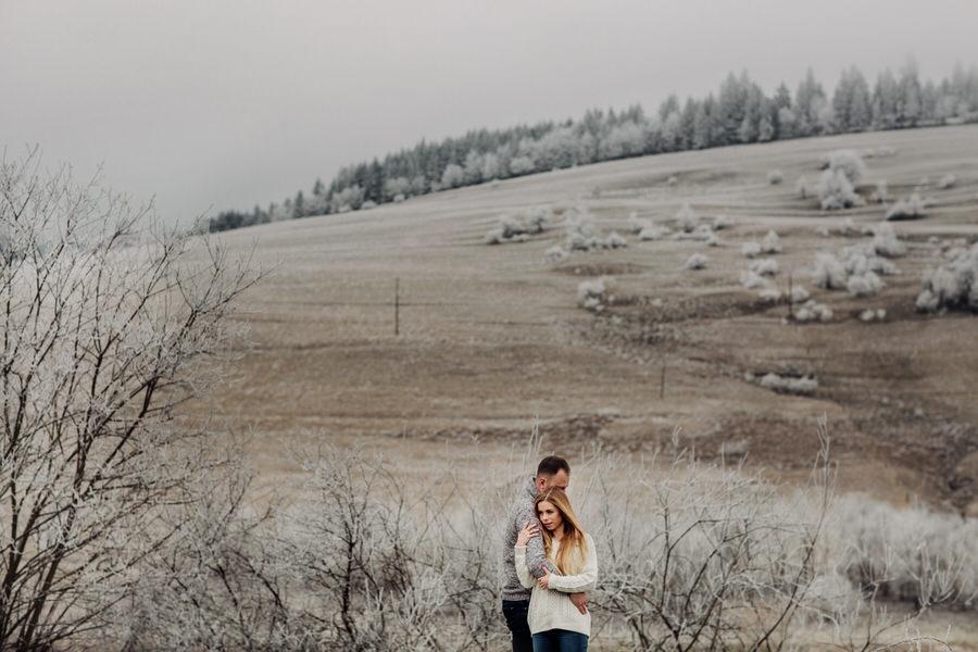 zimowa sesja narzeczeńska tarnów