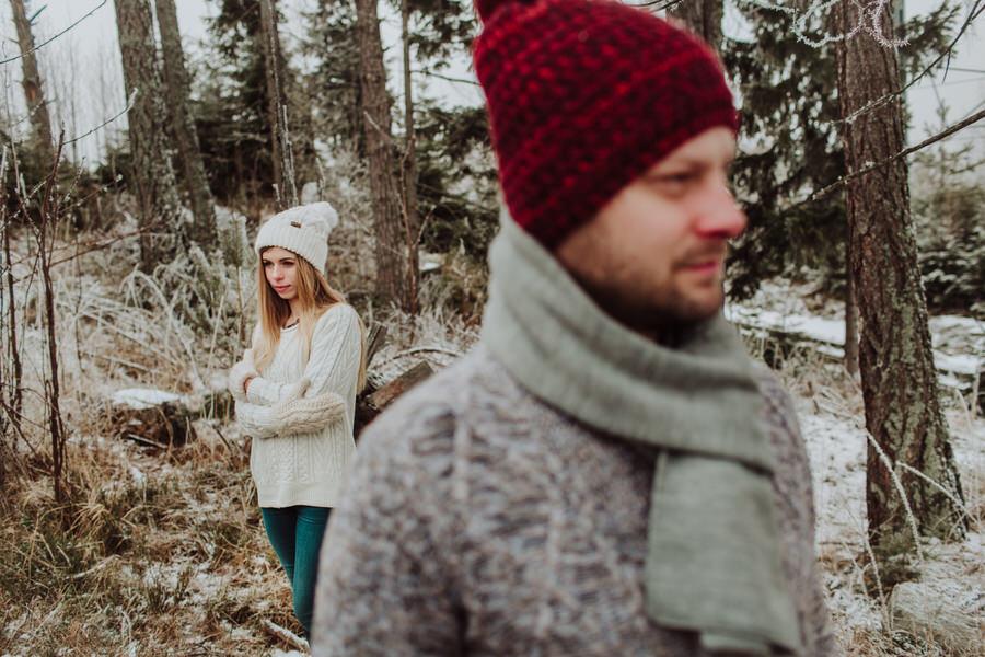 sesja portretowa zimowa