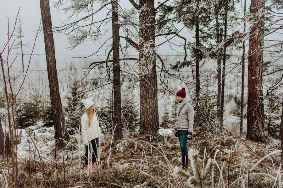 Zimowa sesja narzeczeńska tatry