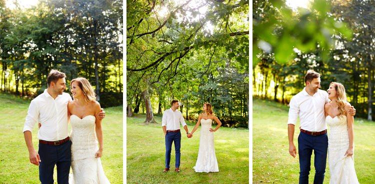romantyczny spacer po lesie