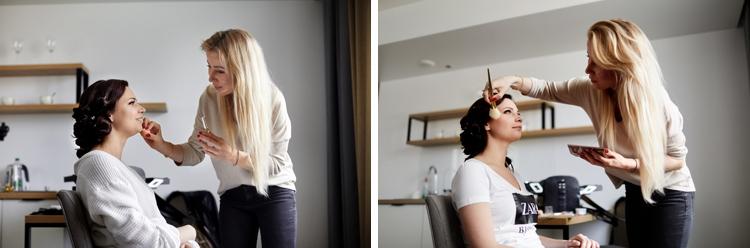 makijaż ślubny w pokoju hotelowym kraków