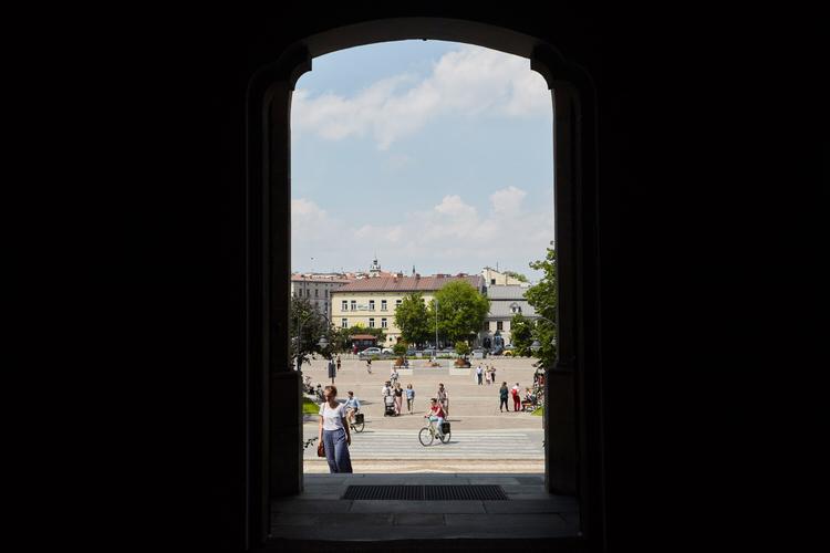 zdjęcia Rynku Podgórskiego w Krakowie