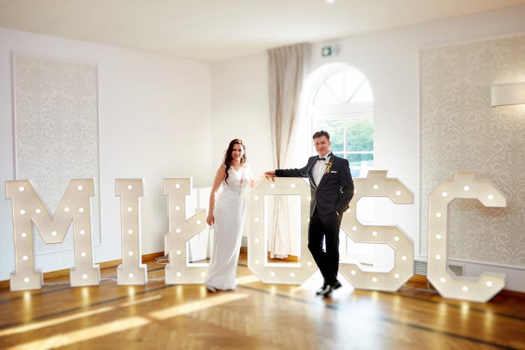 napis miłość na wesele gościniec w czuszowie