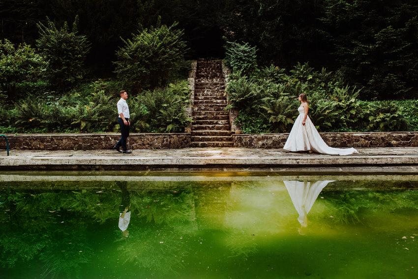 plener ślubny w dniu ślubu - fotograf Tarnów