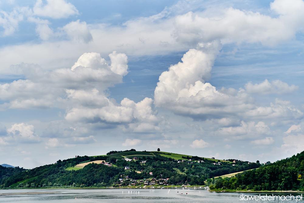 gródek nad Dunajcem, widok z Hotelu Heron
