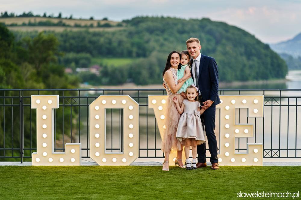 Piękne wesele nad jeziorem Rożnowskim