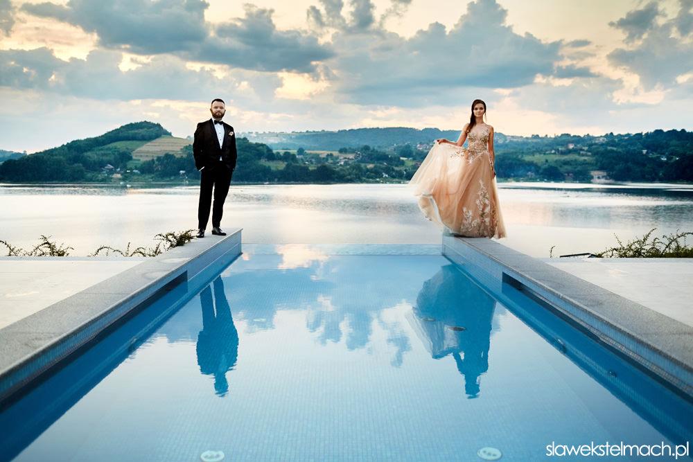 Hotel Heron Live – sesja ślubna na basenie