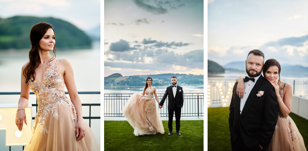 sesja plenerowa w dniu ślubu - heron live hotel