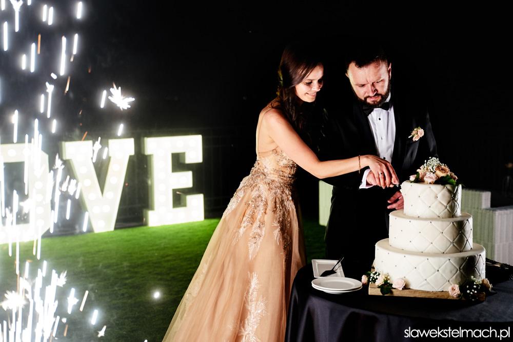 tort na wesele, zimne ognie